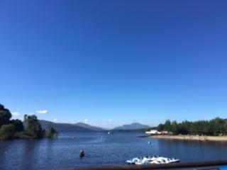 Loch Lomond on a sunny day