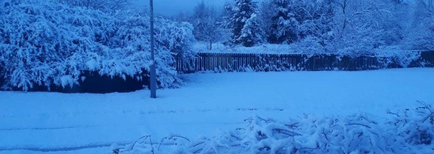 Snow scene in Scotland